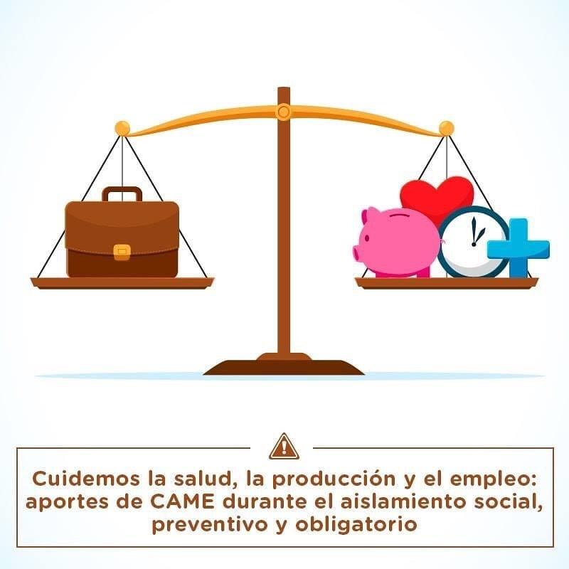 Aportes de CAME para cuidar la salud, la producción y el empleo.