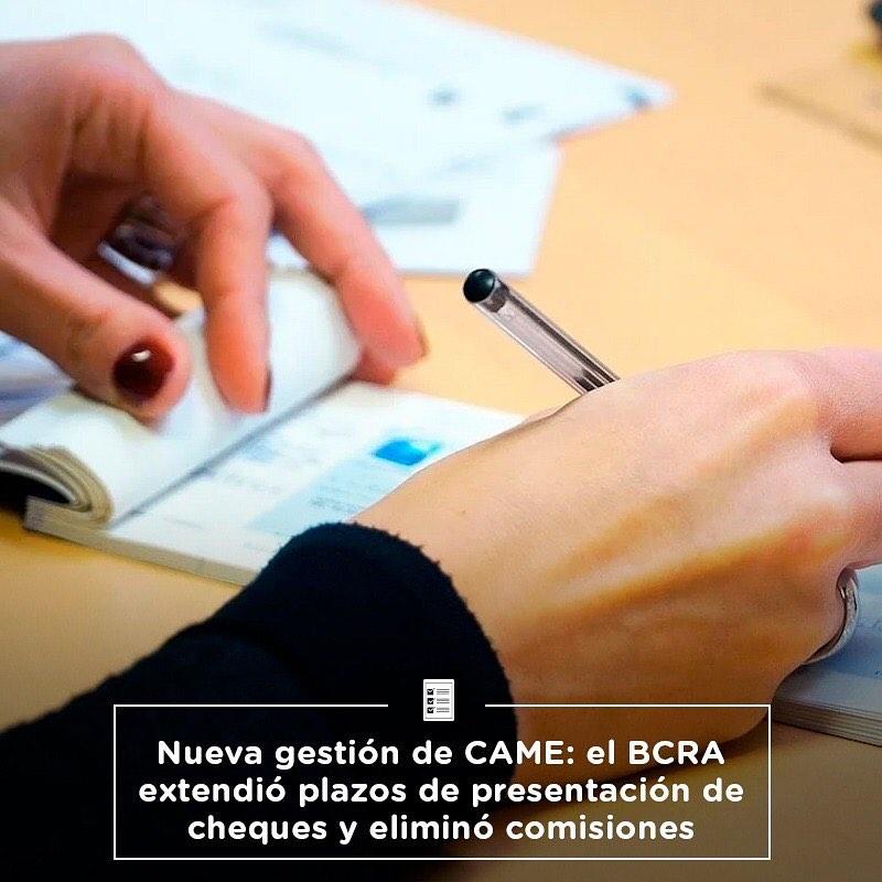 El BCRA extendió plazos de presentación de cheques y eliminó comisiones