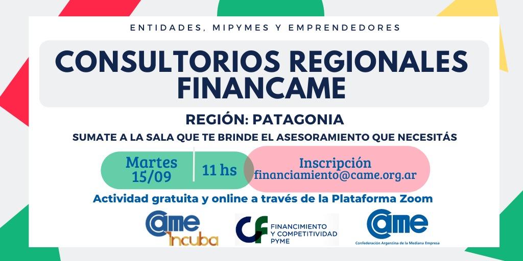 INVITAN A PARTICIPAR DE LOS CONSULTORIOS GRATUITOS REGIONALES FINANCAME