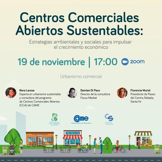 """Invitan a participar del segundo encuentro virtual sobre """"Centros Comerciales Abiertos Sustentables"""""""