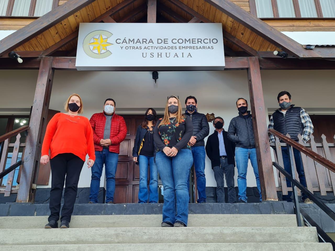 La Cámara de Comercio de Ushuaia se reunió con el Concejal Gabriel De La Vega