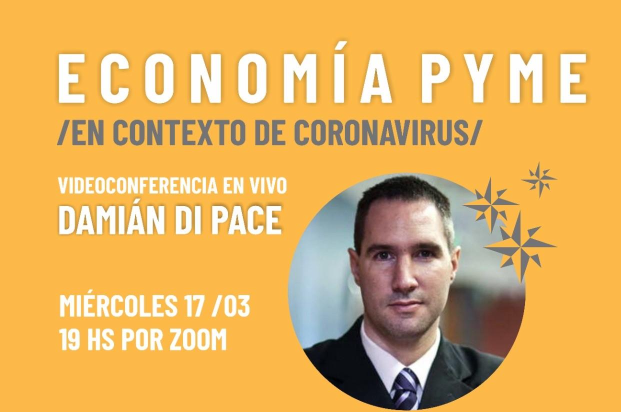"""Se llevará adelante la videoconferencia """"Economía PYME en contexto de COVID-19"""""""